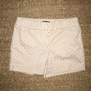 WHBM Tan and White Shorts